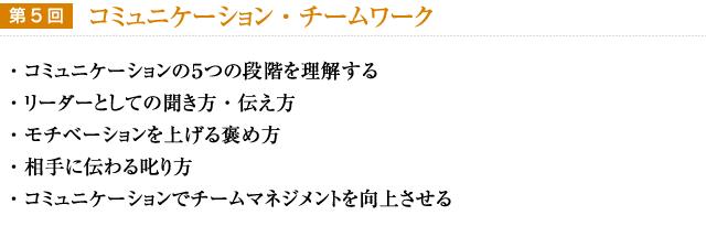 【第5回】コミュニケーション・チームワーク