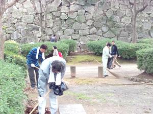 舞鶴公園清掃