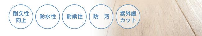 耐久性向上・防水性・耐候性・防汚・紫外線カット
