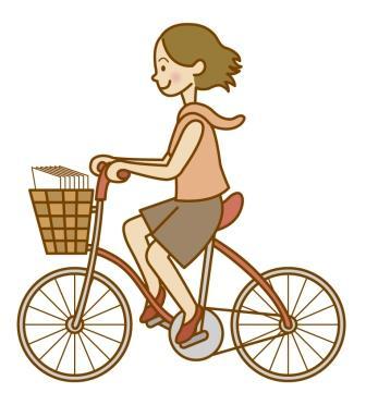 自転車女性